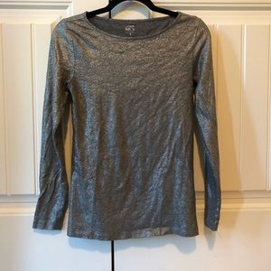 Metallic long sleeve J.Crew Painter Tee